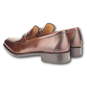Louisville Bit Loafer in Hand Painted Tobacco by Armin Oehler