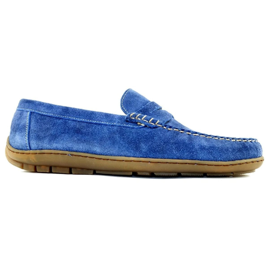 Edmond Loafer in French Blue Suede by Alan Payne Footwear