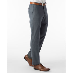 Super 120s Wool Serge Comfort-EZE Trouser in Slate Blue (Flat Front Models) by Ballin