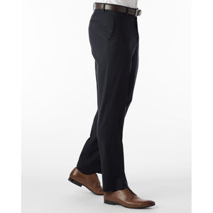 Super 120s Wool Gabardine Comfort-EZE Trouser in Navy (Flat Front Models) by Ballin