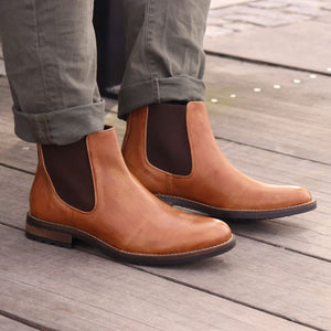 Santa Fe Panel Boot in Tan by T.B. Phelps