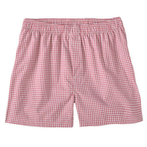 Shadow Check Cotton Boxer in Red by Bills Khakis