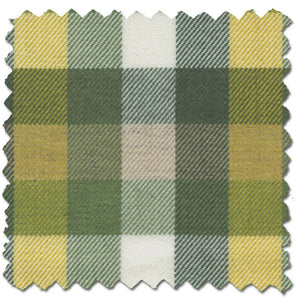 Green and Gold Check Cotton and Wool Blend Button-Down Shirt by Viyella