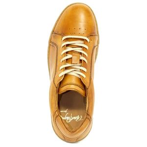 Mystic Lace-Up Sneaker in Tan Sheepskin by Alan Payne Footwear