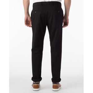 Perma Color Pima Twill Khaki Pants in Black (Flat Front Models) by Ballin