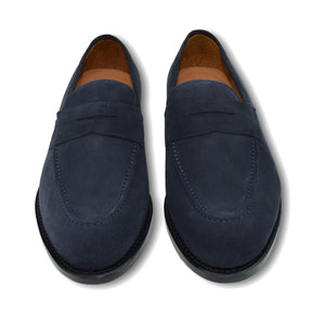 Augusta Loafer in Blue Slate Suede by Armin Oehler