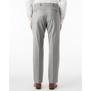 360° Luxury Performance Wool Tropical Flat Front Trouser in Light Grey by 6 East by Ballin