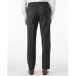 360° Luxury Performance Wool Tropical Flat Front Trouser in Charcoal by 6 East by Ballin