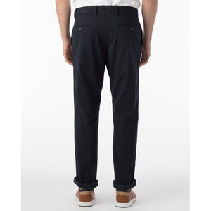 Perma Color Pima Twill Khaki Pants in Navy (Flat Front Models) by Ballin