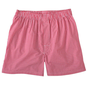 Classic Gingham Cotton Boxer in Red by Bills Khakis