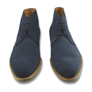 Calabash Boot in Blue Slate Suede by Armin Oehler