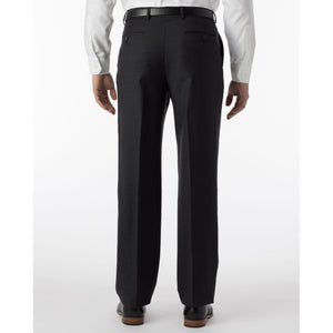 Super 120s Wool Serge Comfort-EZE Trouser in Charcoal (Flat Front Models) by Ballin