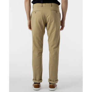 Perma Color Pima Twill Khaki Pants in Khaki (Flat Front Models) by Ballin