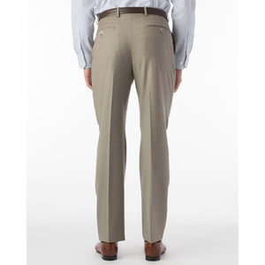 Super 120s Wool Serge Comfort-EZE Trouser in Taupe (Flat Front Models) by Ballin