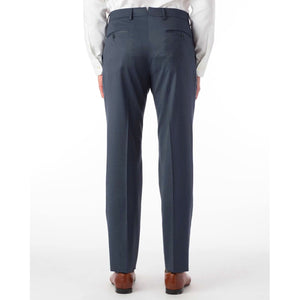 360° Luxury Performance Wool Tropical Flat Front Trouser in Navy Mix by 6 East by Ballin