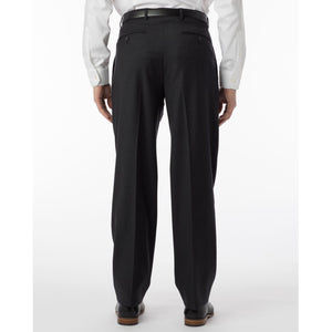 Super 120s Luxury Wool Serge Comfort-EZE Trouser in Charcoal (Manchester Pleated Model) by Ballin