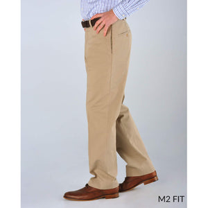 M2 Classic Fit Smart Khakis in Oyster by Bills Khakis