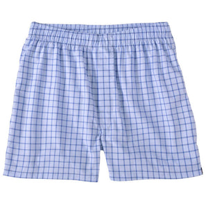 End-On-End Windowpane Cotton Boxer in Blue by Bills Khakis