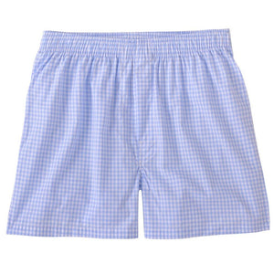 Classic Gingham Cotton Boxer in Sky by Bills Khakis