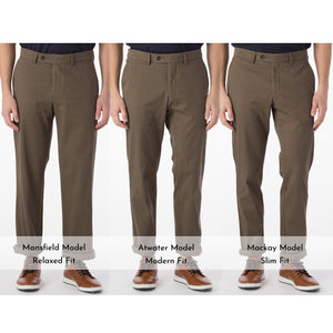 Perma Color Pima Twill Khaki Pants in Fatigue (Flat Front Models) by Ballin