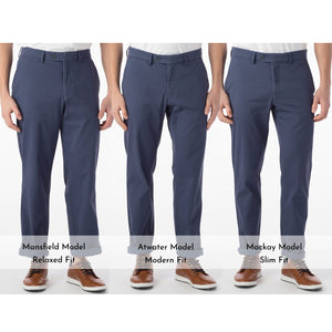 Perma Color Pima Twill Khaki Pants in Cadet Blue (Flat Front Models) by Ballin