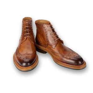 Boston Double Stitched Welt Boot in Brown by Armin Oehler