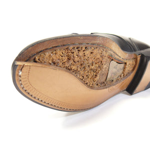 Greenville Double Monk Strap Shoe with Perf Detailing in Saddle Tan by Armin Oehler