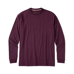 Long Sleeve Crew Neck Peruvian Cotton Tee Shirt in Aubergine by Left Coast Tee