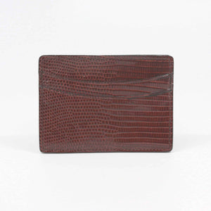 Genuine Ringmark Lizard Card Case in Cognac by Torino Leather