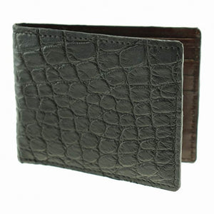 Lancaster Genuine Alligator Wallet in Black by T.B. Phelps