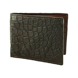 Lancaster Genuine Alligator Wallet in Briar Brown by T.B. Phelps