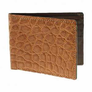 Lancaster Genuine Alligator Wallet in Cognac by T.B. Phelps