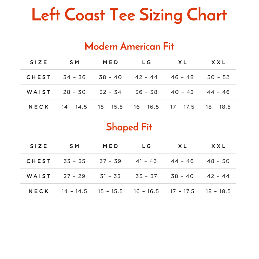 Crew Neck Peruvian Cotton Tee Shirt in Orange by Left Coast Tee