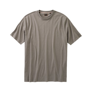 Crew Neck Peruvian Cotton Tee Shirt in Gray by Left Coast Tee