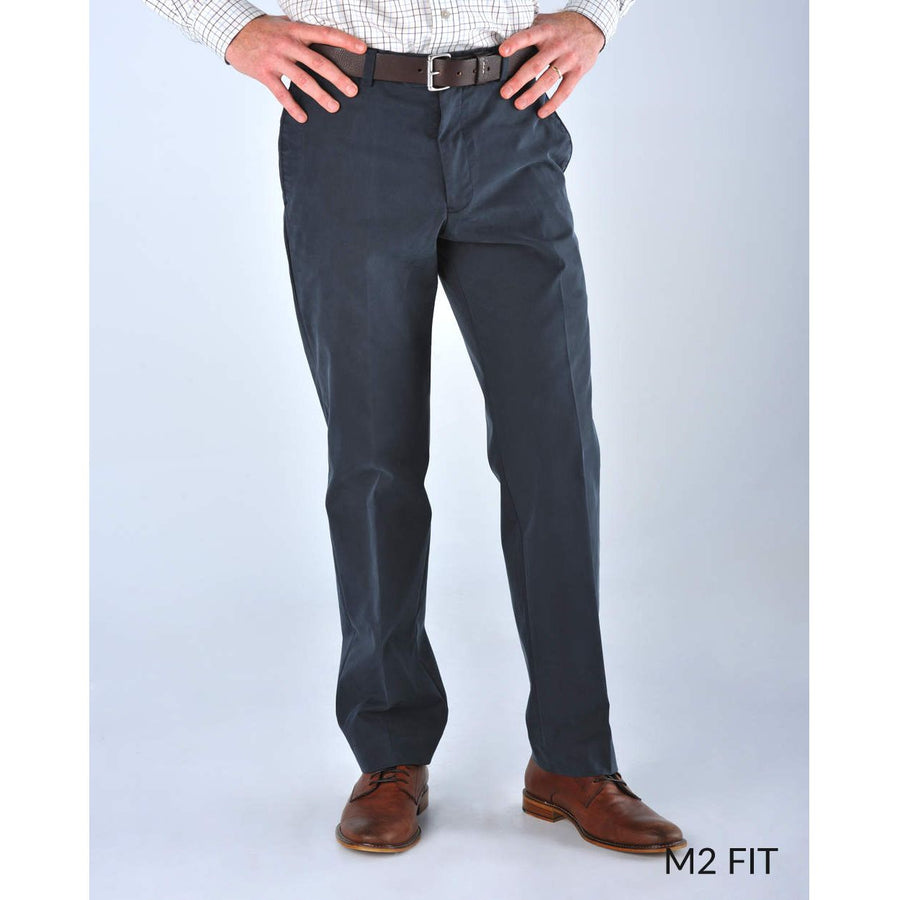 M2 Classic Fit Travel Twills in Navy by Bills Khakis