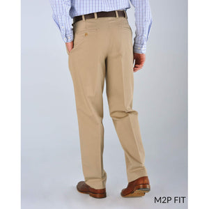 M2P Pleated Classic Fit Montgomery Stretch Twills in Navy by Bills Khakis
