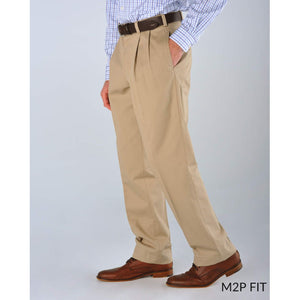 M2P Pleated Classic Fit Vintage Twills in Olive (Last Chance!) by Bills Khakis