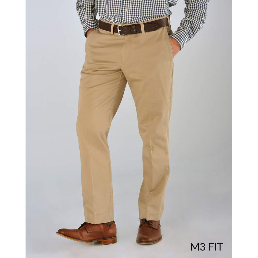 M3 Straight Fit Vintage Twills in Khaki by Bills Khakis