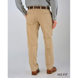 M3 Straight Fit Smart Khakis in Oyster by Bills Khakis