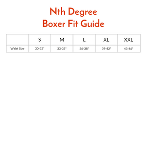 Nth Degree Underwear Boxers Size Chart