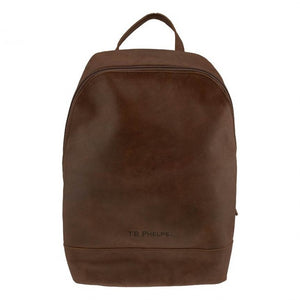 Walker Leather Backpack in Mahogany by T.B. Phelps