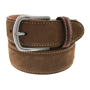Warwick Suede Belt in Dirty Buck by T.B. Phelps
