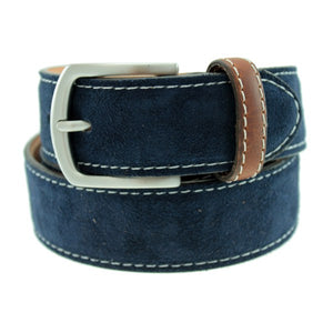 Warwick Suede Belt in Navy by T.B. Phelps