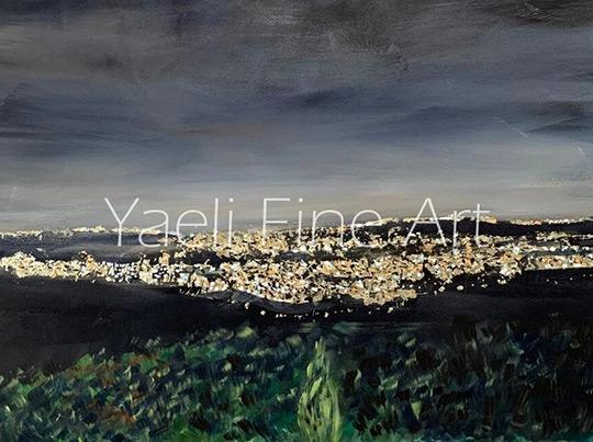 israel at night painting