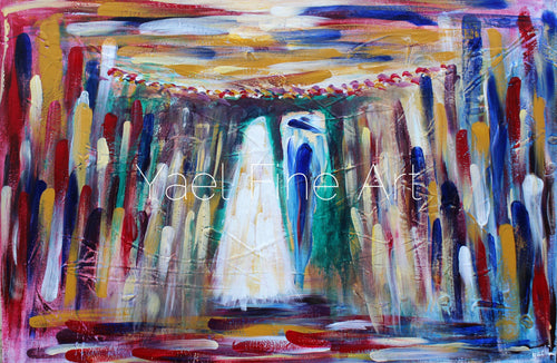 Abstract Chuppah (SOLD) - Judaic Art