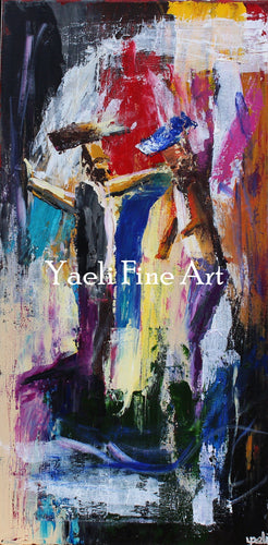 Dancer Color Block (SOLD) - Judaic Art