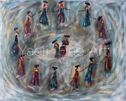 Dancers in Grey (SOLD) - Judaic Art