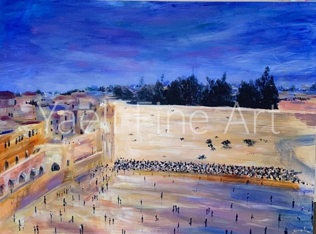 Western wall painting close angle