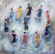 Happy Times (SOLD) - Judaic Art