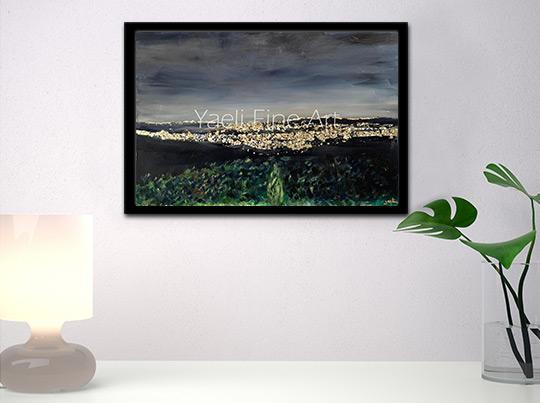 israel skyline painting